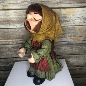Vintage paper mache Christmas caroler decor kitsch